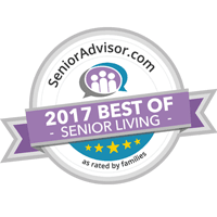 2017 Best of Senior Living badge