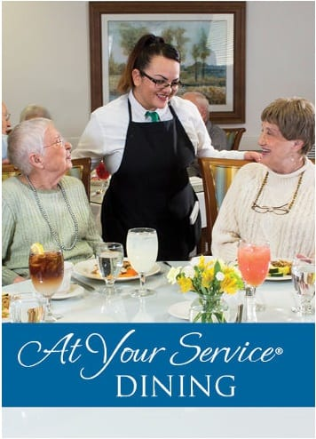Dining at Gardens at Ocotillo Senior Living
