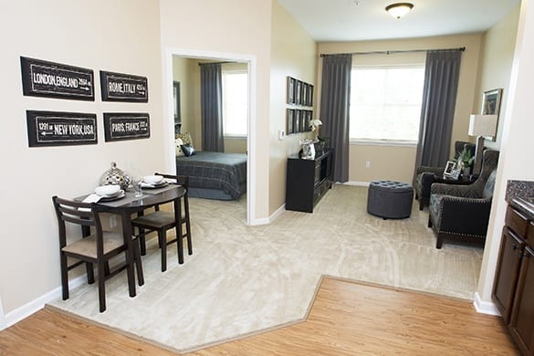 Spacious floor plans with housekeeping available at Spectrum Retirement Communities, LLC