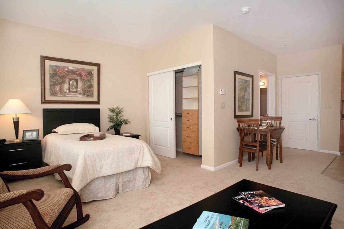 Bedroom At Senior Living In Parker Colorado