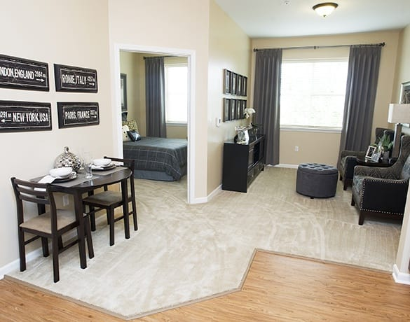 Upscale, spacious floor plans available at Green Oaks Senior Living