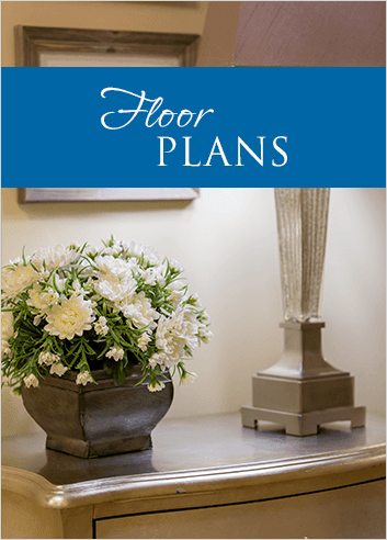 Floor plans at Westbrook Senior Living