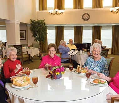 Luxurious amenities at senior living community in Streamwood, IL