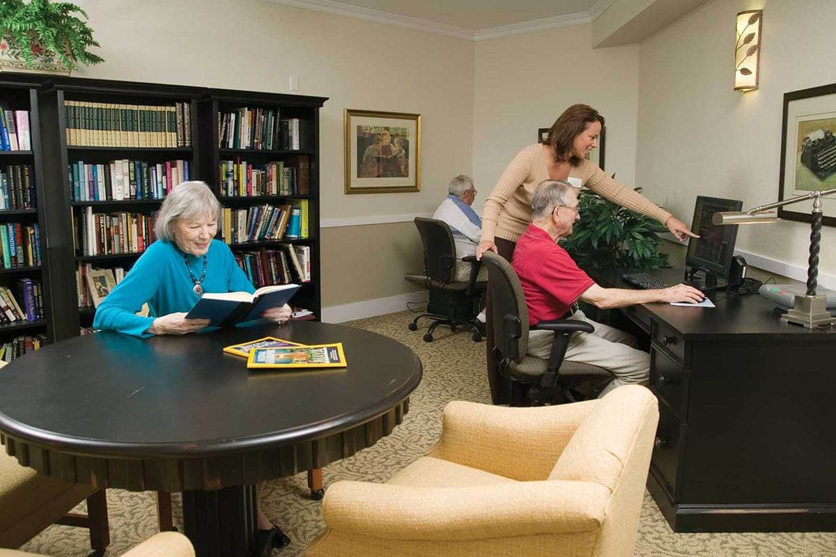 Library At Senior Living In Parker Colorado