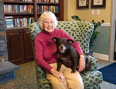 Pet friendly senior living community in Westlake, OH