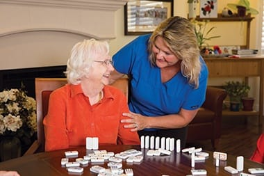 Transitional Memory Care at senior living community in Carmel, IN