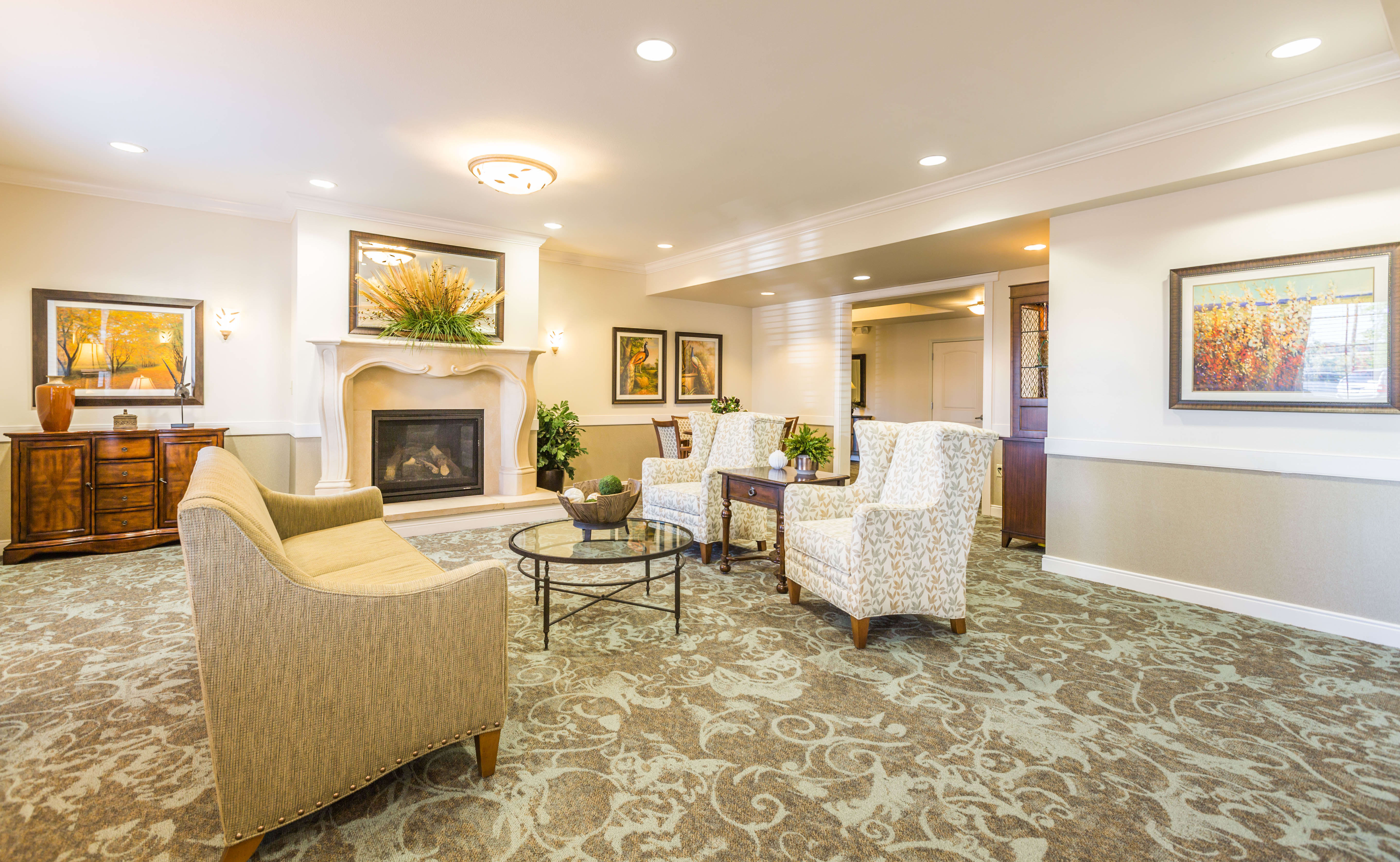 Community Room at Lakeview Senior Living