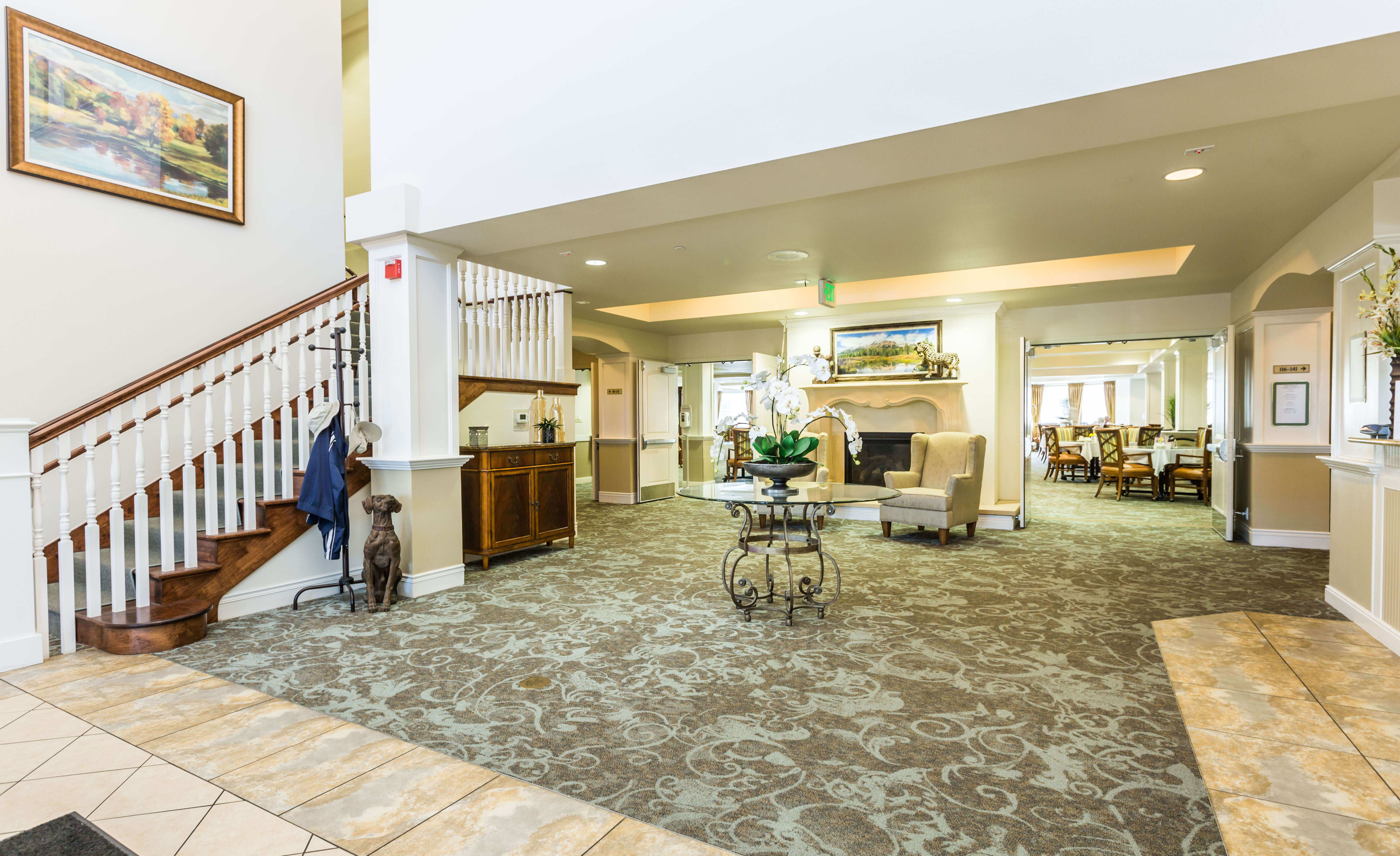 Entrance and Grand Foyer at Lakeview Senior Living