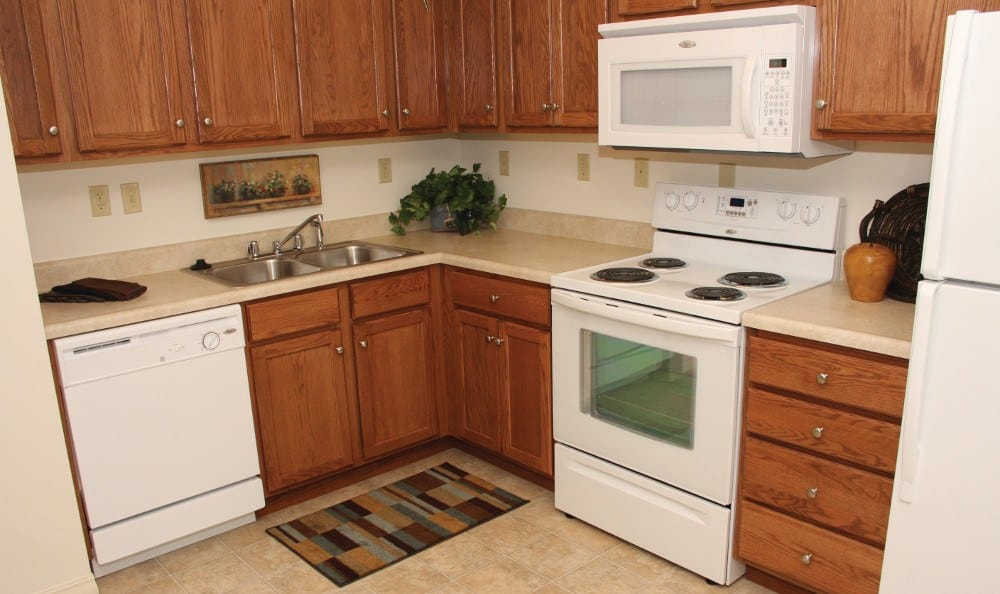 Apartment Kitchen At Our Senior Living Facility In Crestwood