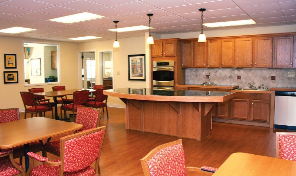Kitchen At Our Senior Living Facility In Crestwood