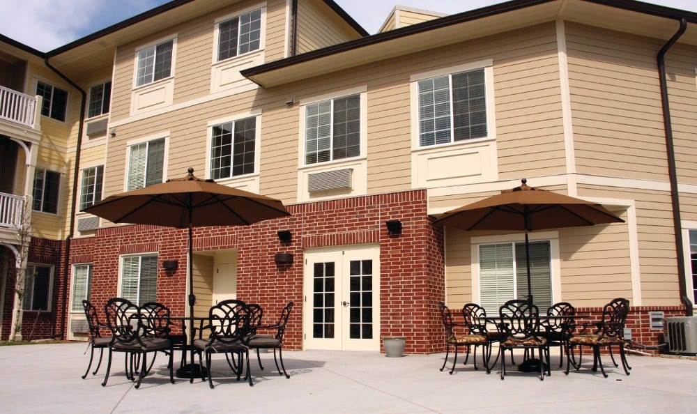 Patio At Our Senior Living Facility In Crestwood