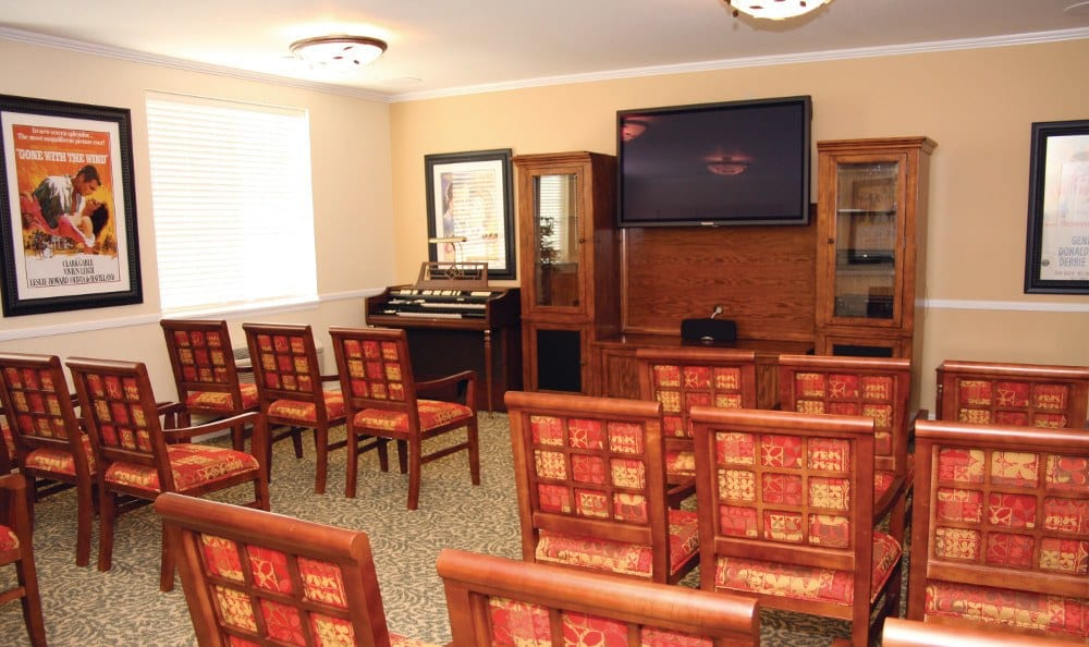 Theater At Our Senior Living Facility In Crestwood