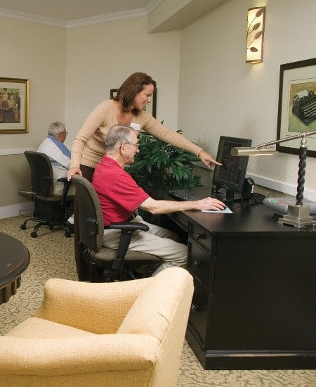 Computer Access available at The Homestead at Hickory View Retirement Community