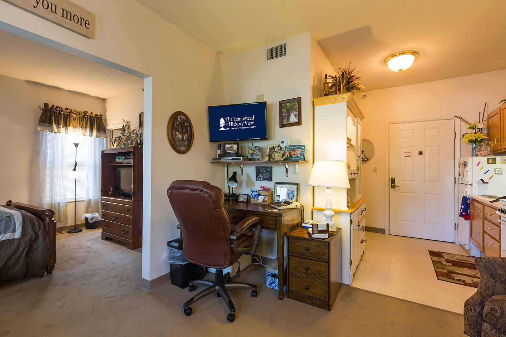 One bedrom apartment at The Homestead at Hickory View Retirement Community