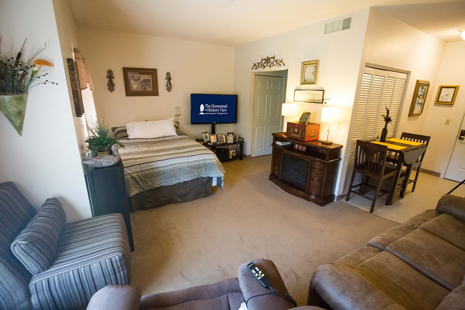 Studio apartment at The Homestead at Hickory View Retirement Community