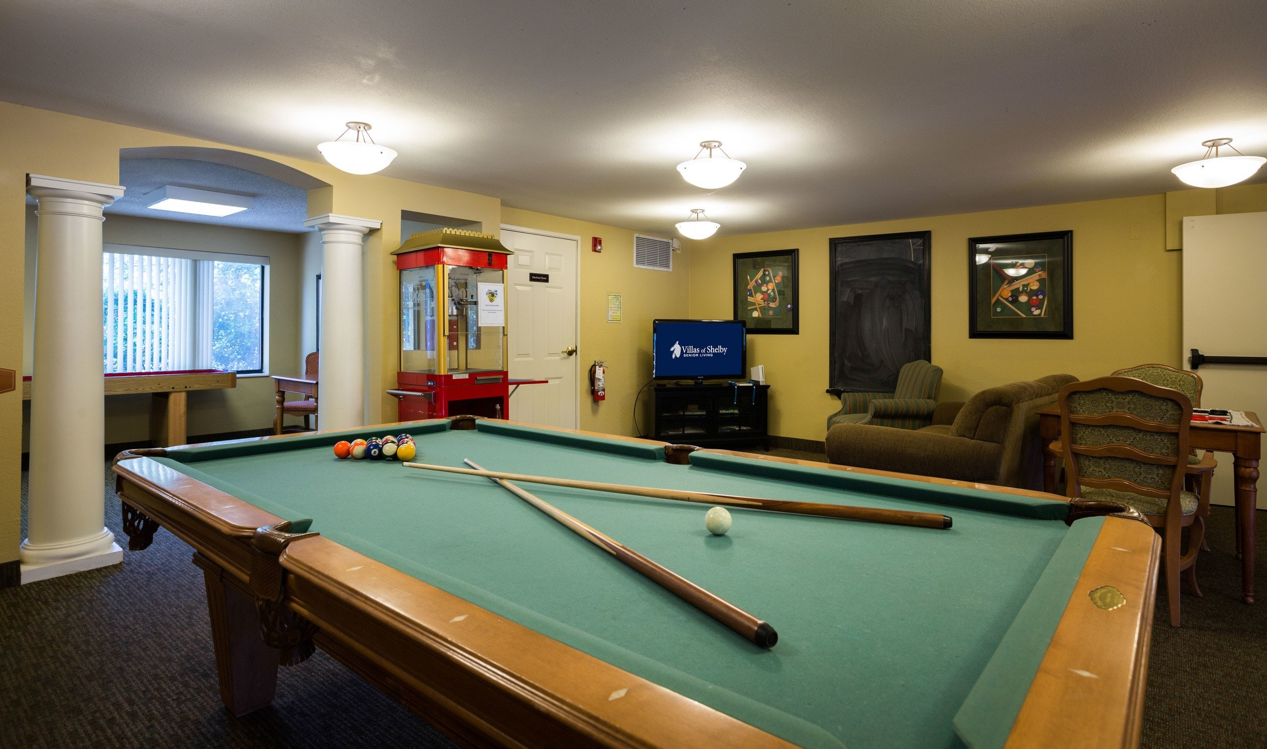 Pool Table at Villas