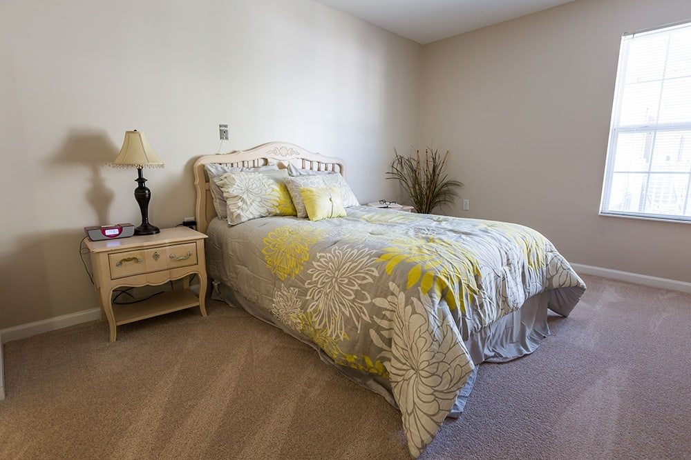 Model Bedroom at Our Sterling Heights Independent Living Community