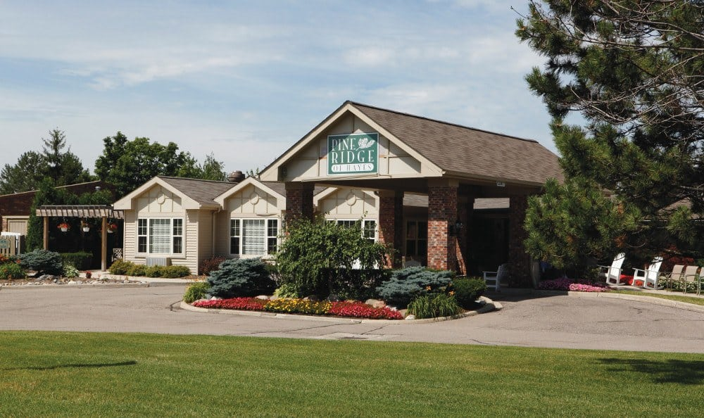 Front Of Our Retirement Community In Sterling Heights