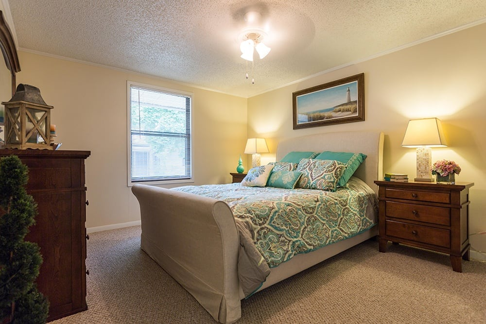 Model Bedroom at Our Retirement Community In Sterling Heights