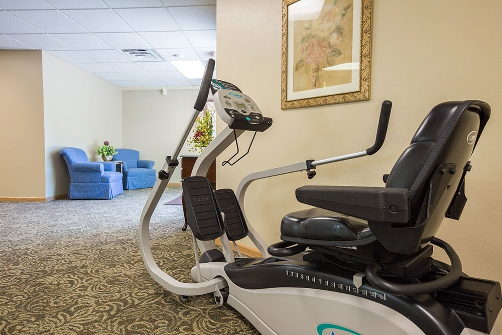 Workout Center at Our Retirement Community In Sterling Heights