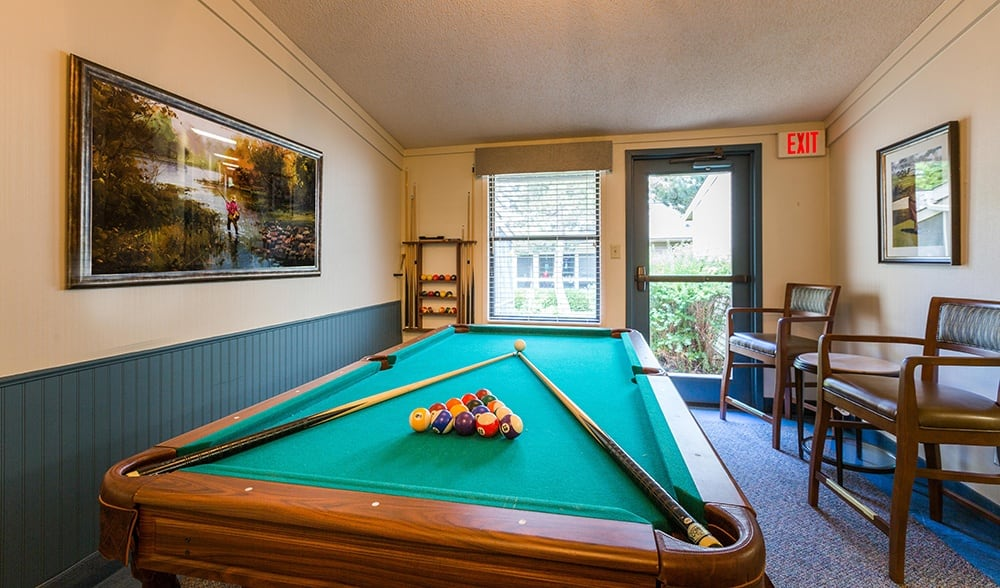 Pool Table at Our Retirement Community In Sterling Heights