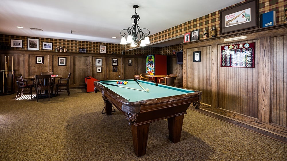 Pool Room At Our Senior Retirement Community In Clinton Township