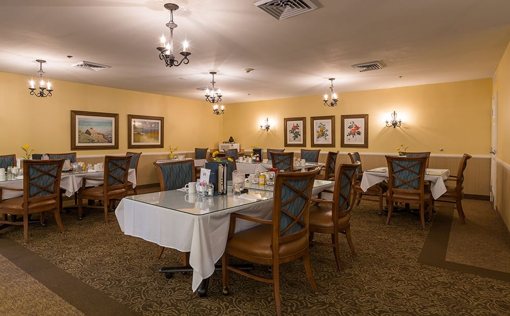 Dining Room At Our Senior Retirement Community In Clinton Township