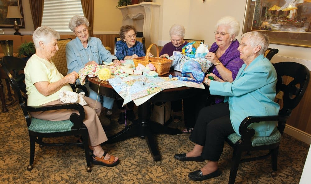 Knitting At Our Senior Retirement Community In Clinton Township