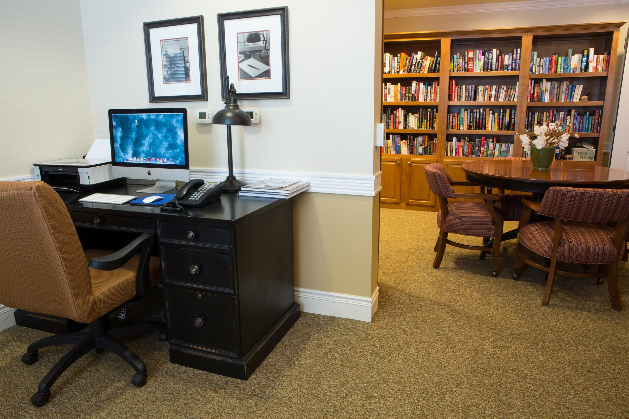 Library at Shawnee Hills Senior Living