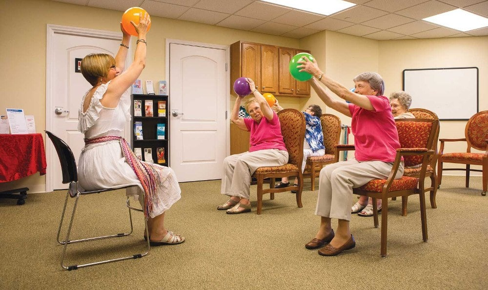 Exercise At Shawnee Independent Living