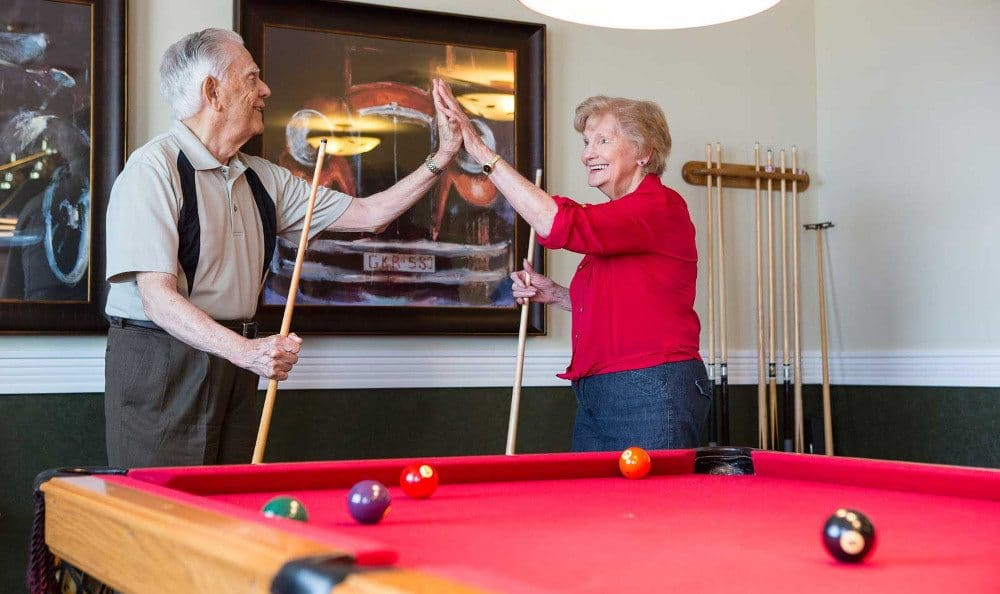 Pool Table At Shawnee Independent Living