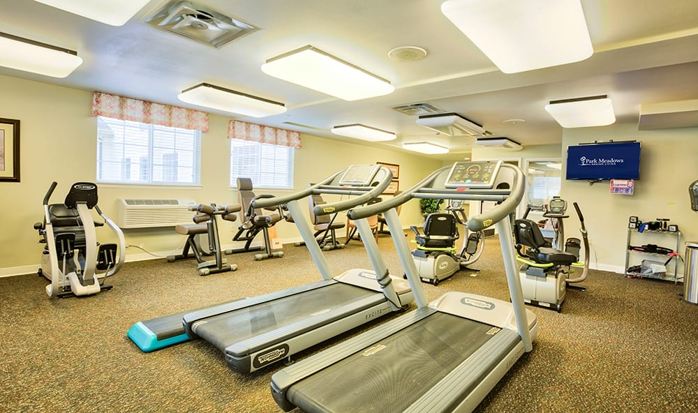 Treadmills at Park Meadows Senior Living