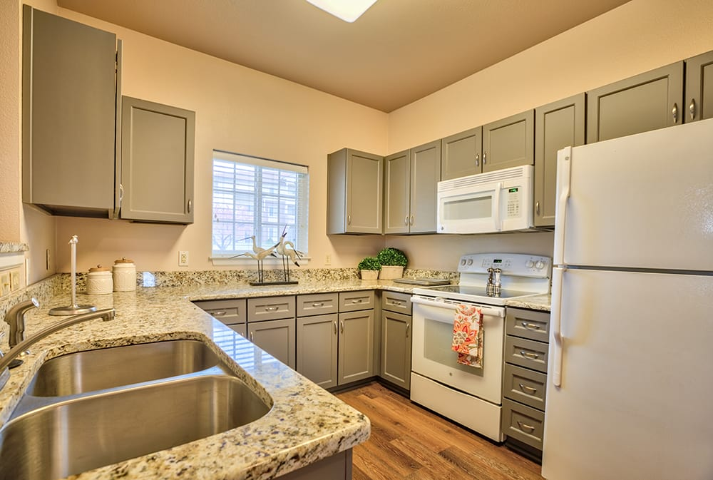 Model kitchen at Park Meadows Senior Living