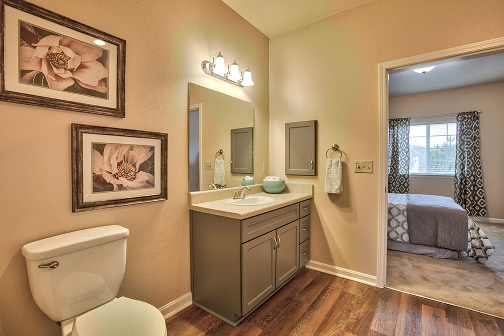 A bathroom at Park Meadows Senior Living