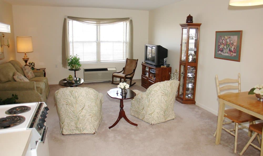 Living Room At Our Liverpool Retirement Community