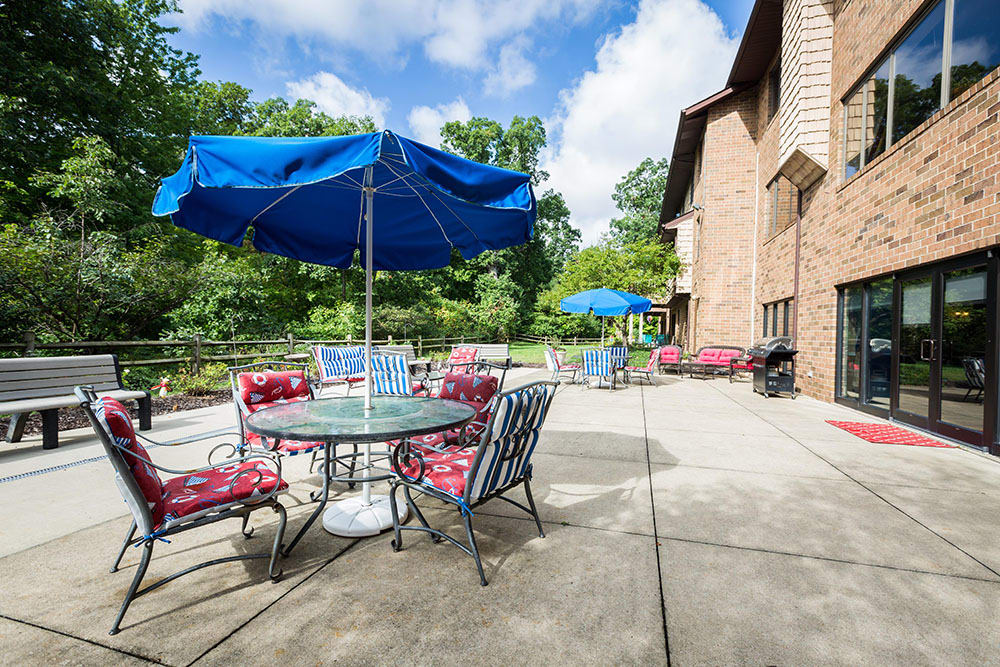 Back Patio at Westlake OH Senior Living Community