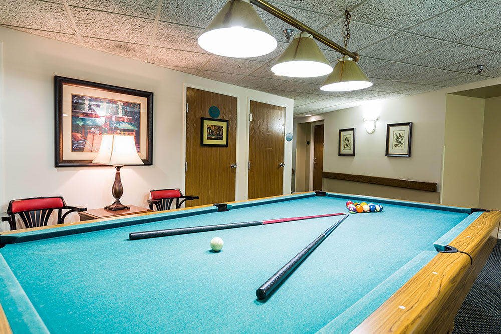 Pool Room at Westlake OH Senior Living Community