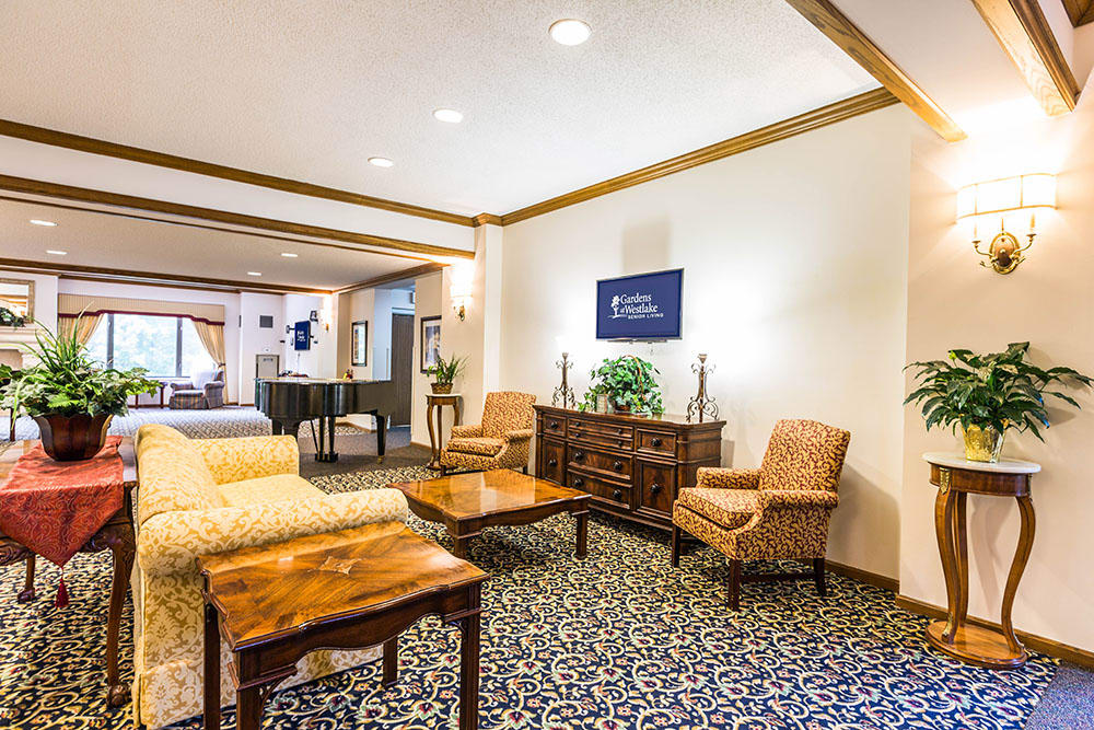 Community Room of Westlake OH Senior Living Community