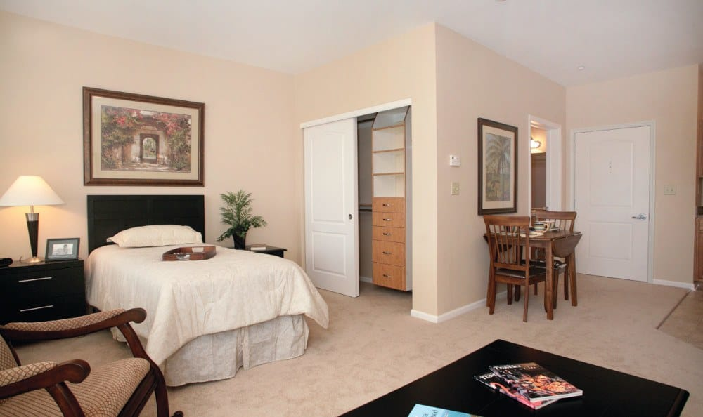 Spacious bedrooms at our senior living facility in Peoria, AZ