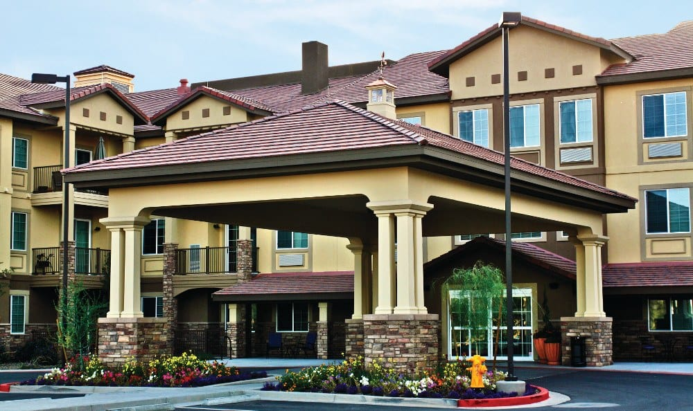 Front of our senior living facility in Peoria, AZ
