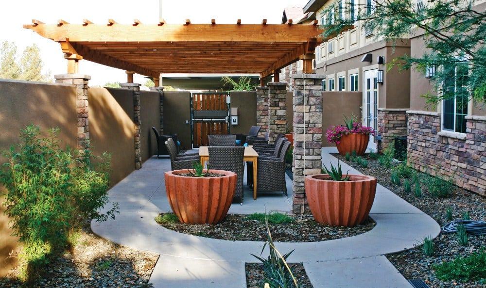 Garden at our senior living facility in Peoria, AZ