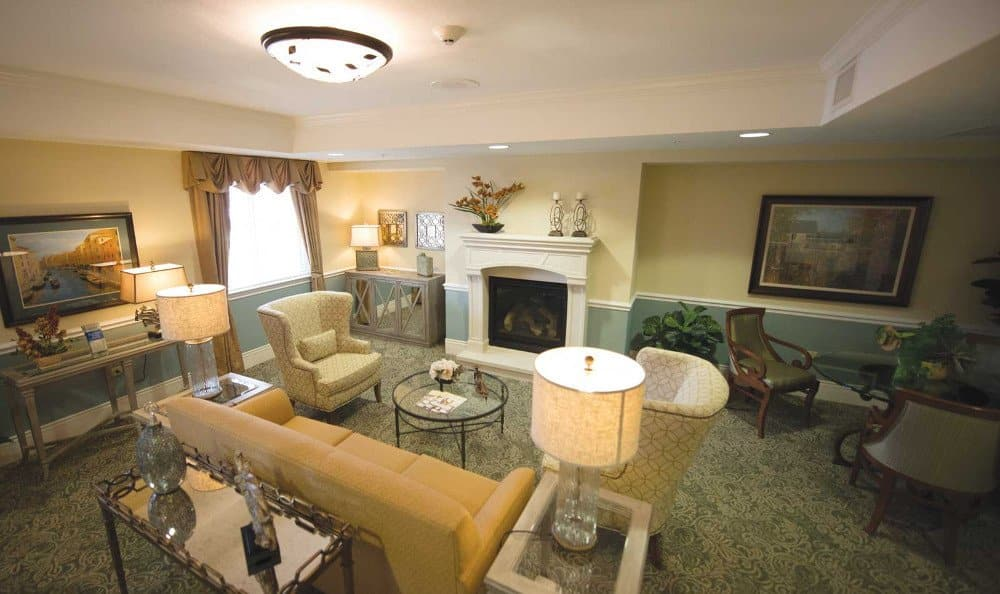 Living room at our assisted living facility in Cary, IL