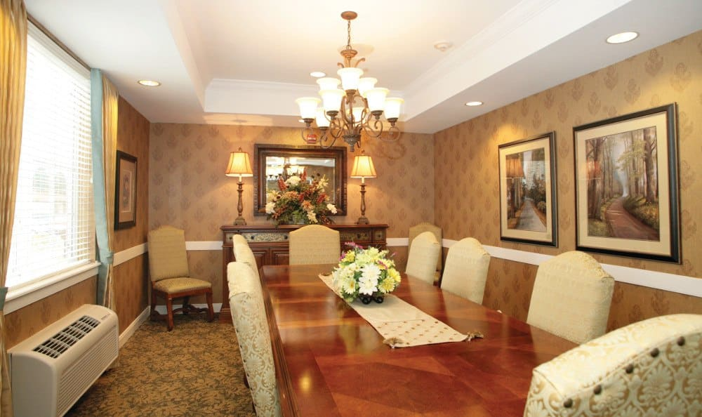 Elegant dining at Westview at Ellisville Assisted Living & Memory Care