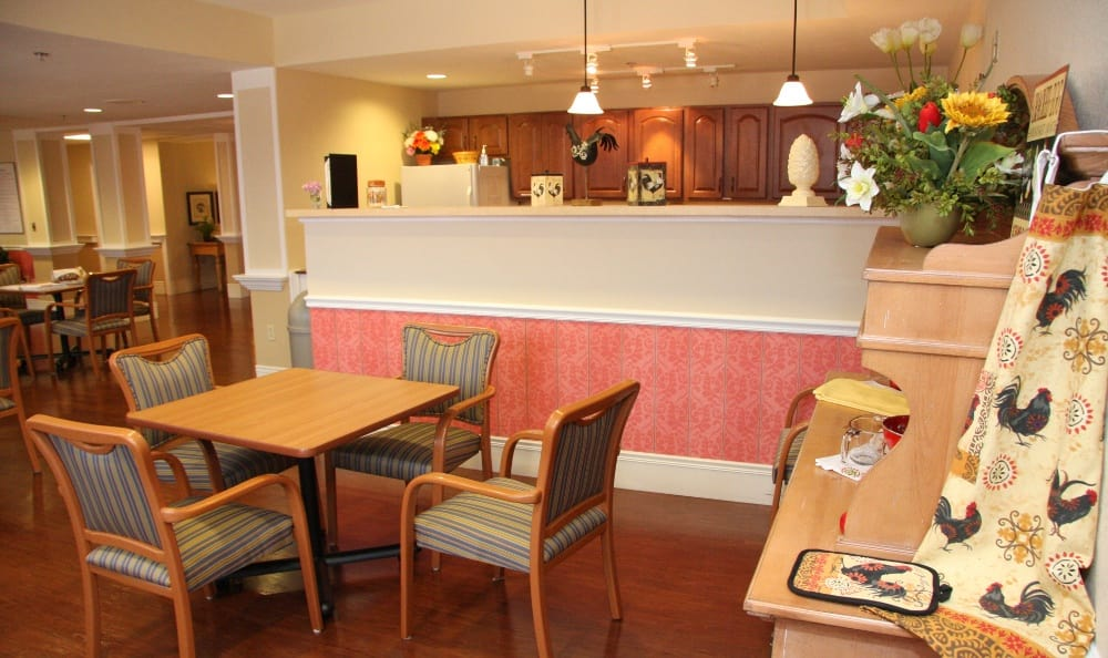 Dining area at our assisted living facility in Ellisville, MO