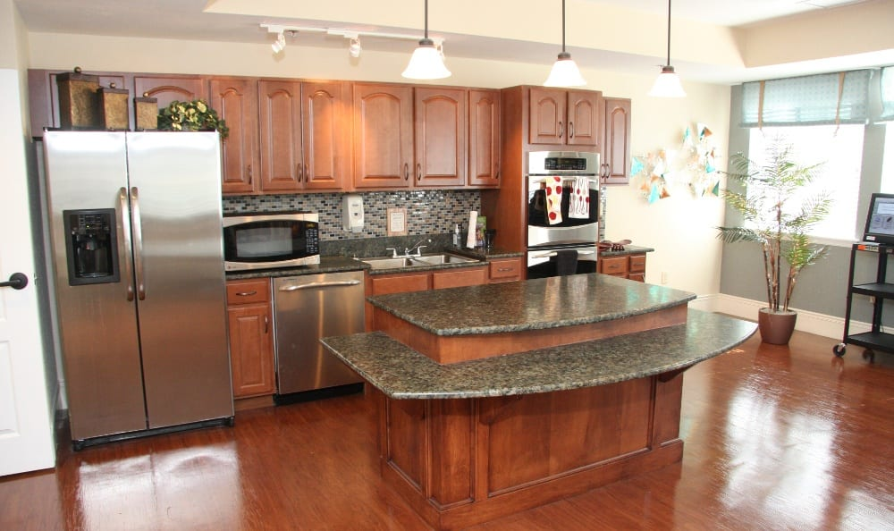 Spacious kitchens at our assisted living facility in Ellisville, MO