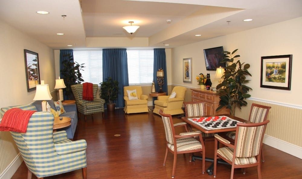 Plenty of areas to relax at our assisted living facility in Ellisville, MO
