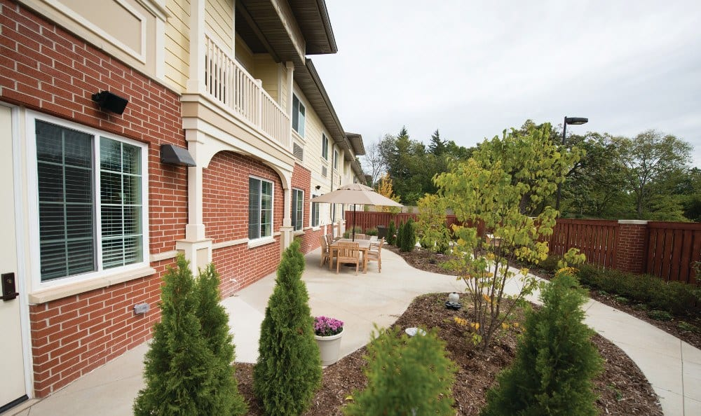 Side of our assisted living facility in Ellisville, MO