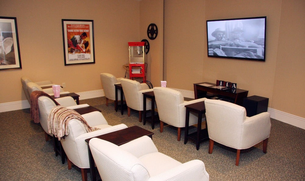 Theater at our assisted living facility in Ellisville, MO