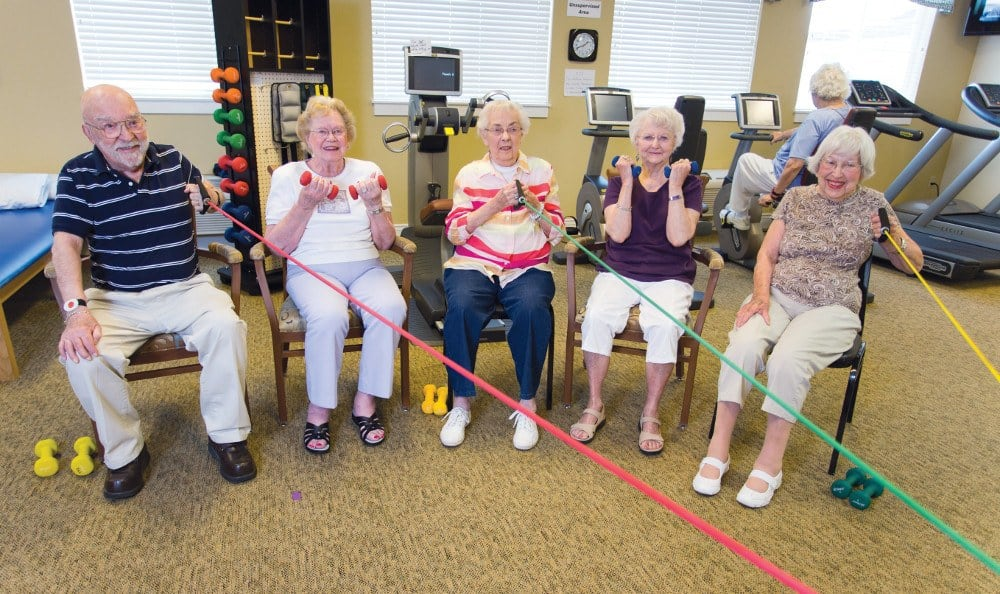 Our Affton assisted living facility has exercise options