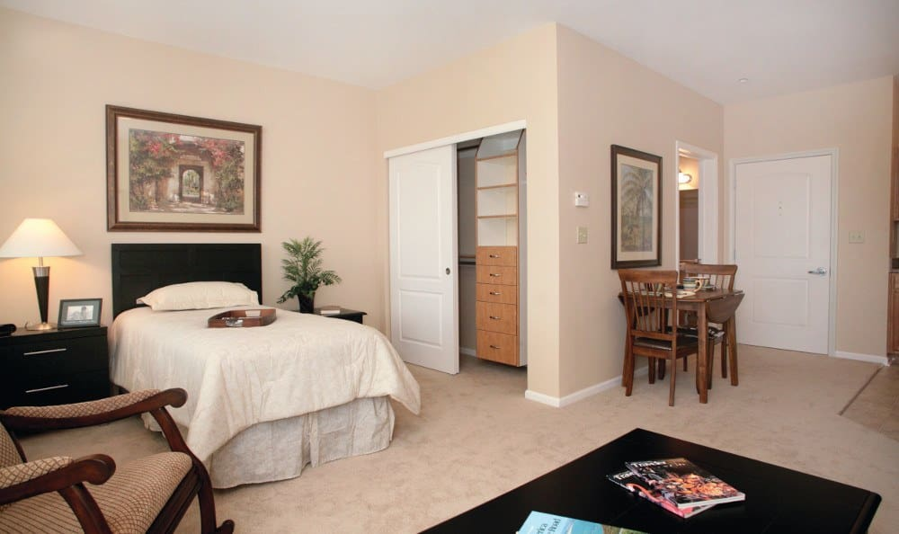 Spacious bedrooms at Southview Assisted Living & Memory Care